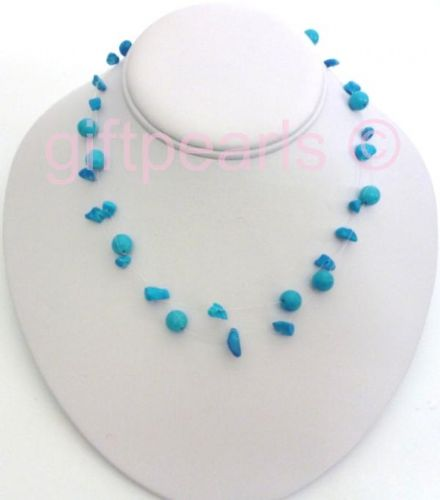 Blue Turquoise ' ILLUSION' necklace
